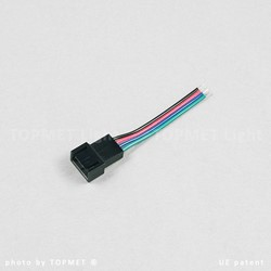 Picture of LED RGB cable with socket 4 x 0,5; L-50; MIKRO4