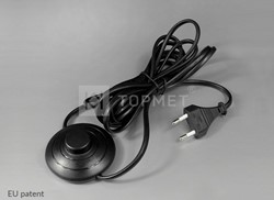Picture of cable with foot switch and plug 250V; 2 x 0,75; 2,5 A; L-1000/2500 (black)
