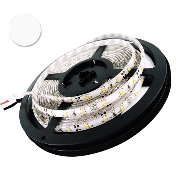 Picture of Banda LED 5050 60 SMD/M 14,4W ALB RECE Impermeabila SILICON