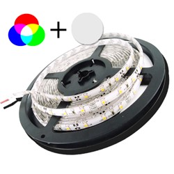 Picture of Banda LED 12V  5050 60 SMD/M14,4W RGB+Alb cald permeabila PROFESSONAL
