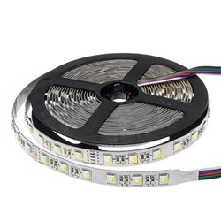 Picture of Banda LED  12V 5050 60 SMD/M14,4W RGB+Alb Rece permeabila PROFESSONAL
