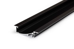 Picture of LED profile FLAT8 H/UX 1000 black anodizat